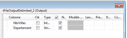 job talend schema fichier delimité sortie