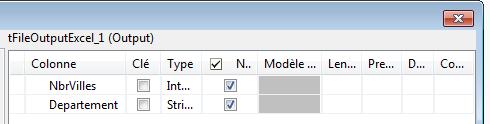 job talend schema fichier excel sortie