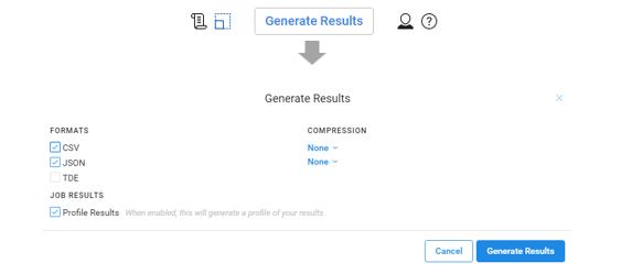 triacta permet de générer un fichier json ou csv