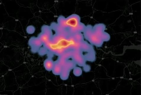 tableau marqueur densité carte de chaleur heatmap