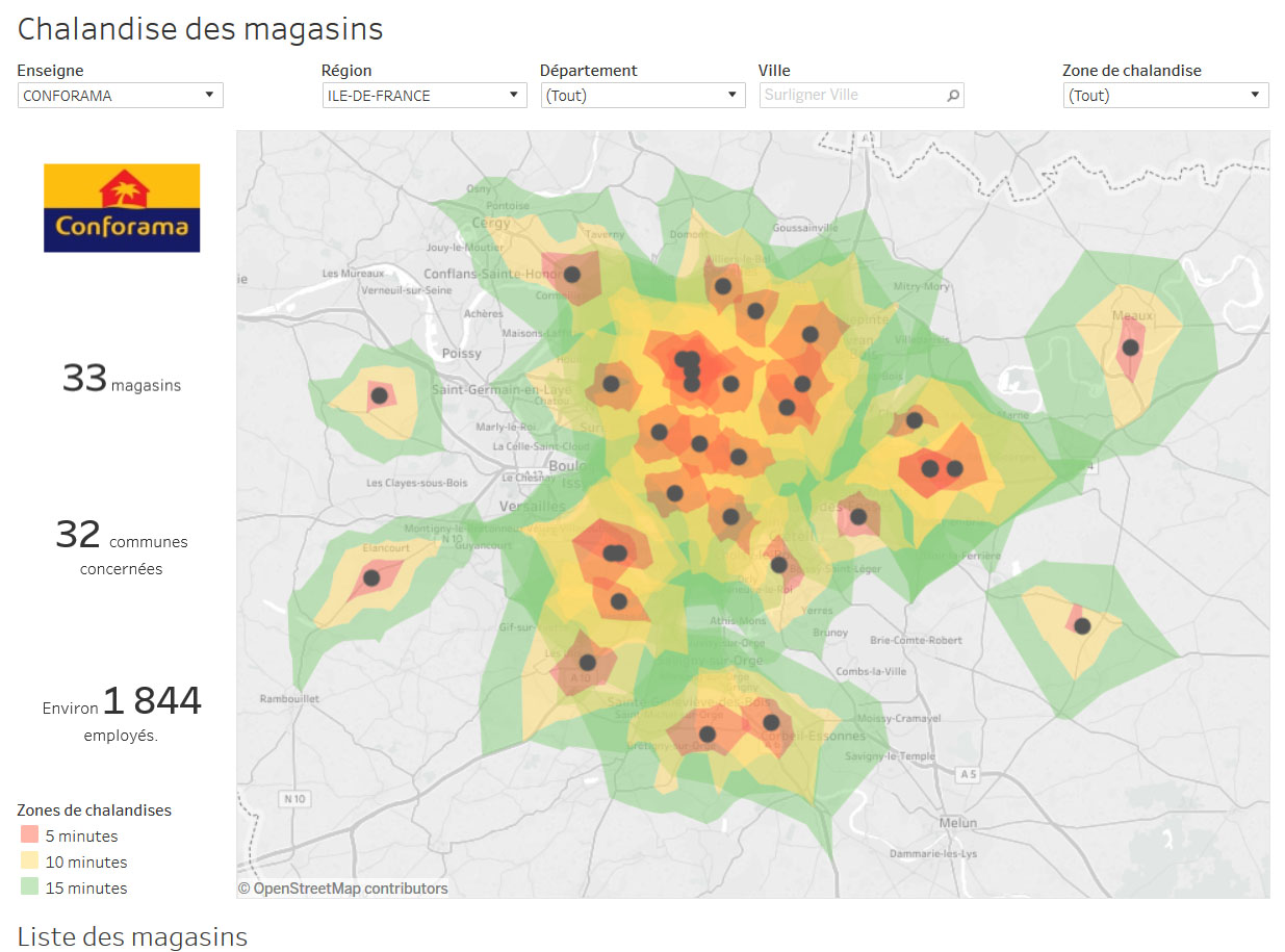 isochrones tableau map carto
