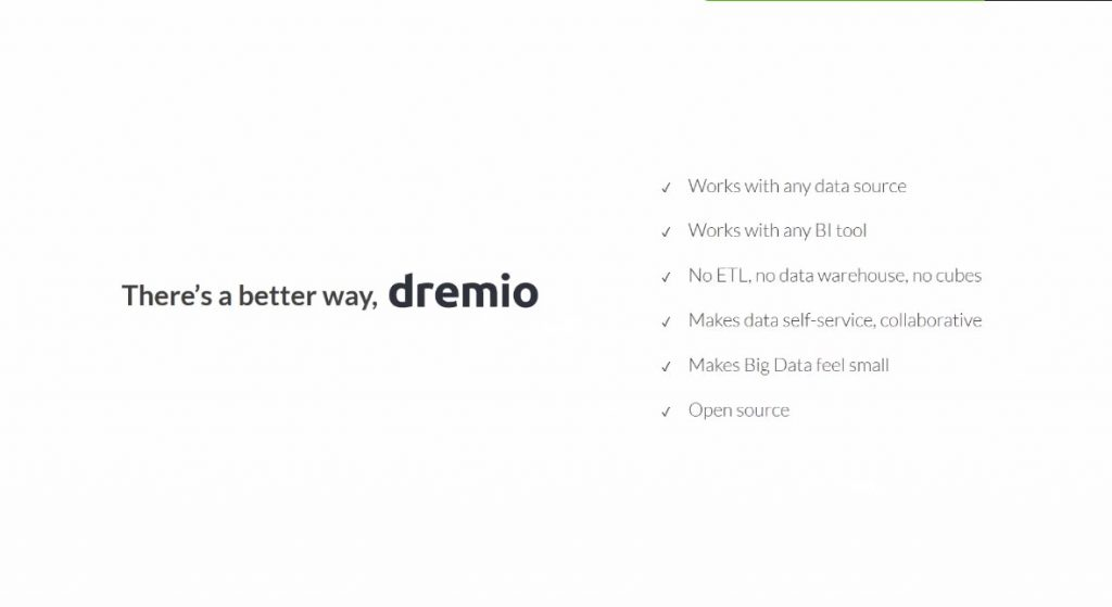 dremio there's a better way