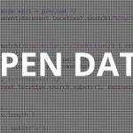 open data written on a page of informatic code