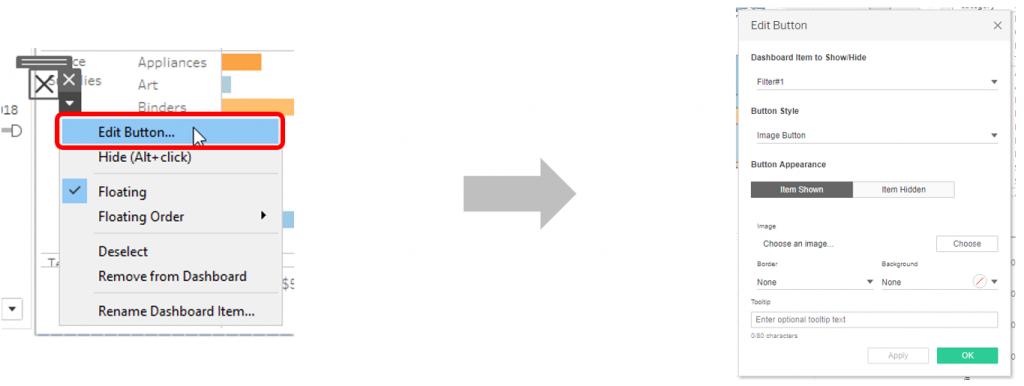 feature configuration bouton tableau 2019.2